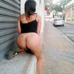 Raquel exibida em fotos nuas pelas ruas