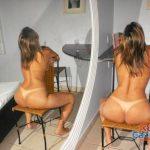Esposa loira se exibindo pelada no motel